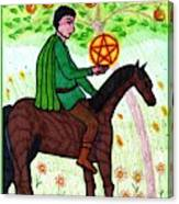 Tarot Of The Younger Self Knight Of Pentacles Canvas Print