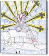 Tarot Of The Younger Self Nine Of Swords Canvas Print
