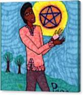 Tarot Of The Younger Self Page Of Pentacles Canvas Print