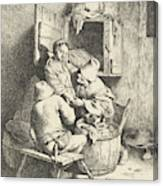 Tavern Man Caressing A Woman Canvas Print