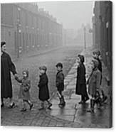 Teacher And Pupils In Manchester Canvas Print