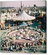 Teacups At Disneyland Canvas Print