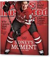 Team Canada Sidney Crosby, 2010 Vancouver Olympic Games Sports Illustrated Cover Canvas Print