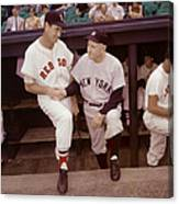 Ted Williams & Casey Stengel Canvas Print