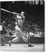 Ted Williams Making A Hit Canvas Print