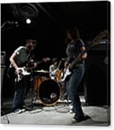 Teenage 14-16 Band Playing Instruments Canvas Print
