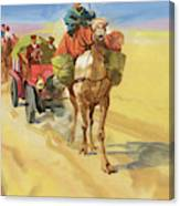 Ten Thousand Mile Motor Race Camel Train Canvas Print