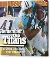 Tennesse Titans Eddie George... Sports Illustrated Cover Canvas Print