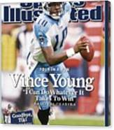 Tennessee Titans Qb Vince Young... Sports Illustrated Cover Canvas Print