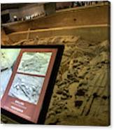 Terra Cotta Warriors In Pit 3 Ruins With Diagram Canvas Print