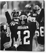 Terry Bradshaw With Arms Raised Canvas Print