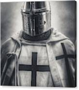 Teutonic Knight Black And White Canvas Print