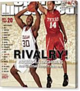 Texas A&m Joseph Jones And University Of Texas D.j Sports Illustrated Cover Canvas Print