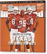 Texas Jamaal Charles, Justin Blalock, And Kasey Studdard Sports Illustrated Cover Canvas Print