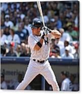 Texas Rangers V New York Yankees Canvas Print