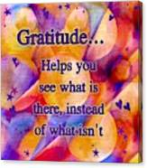 Text Art Gratitude Canvas Print