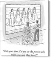 That Dress Canvas Print