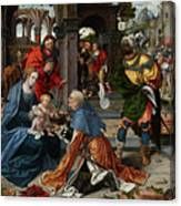 The Adoration Of The Magi With Donor  Canvas Print