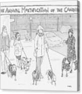 The Annual Mortification Of The Canines Canvas Print