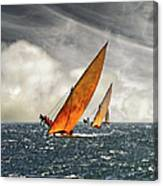 The Art Of Swahili Dhow Racing Canvas Print
