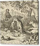 The Badger Hurries To Warn Renard Of The Lion's Intention Canvas Print