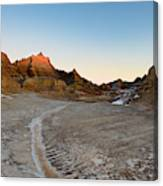 The Badlands And A Sunrise Canvas Print