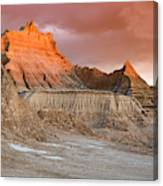 The Badlands With Another Sunrise Canvas Print