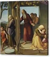 The Banishment Of Hagar  By Johann Friedrich Overbeck Canvas Print