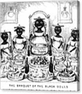 The Banquet Of The Black Dolls, 19th Canvas Print