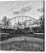 The Baseball Field Black And White Canvas Print