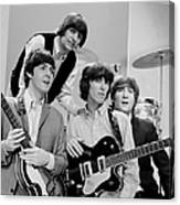 The Beatles, Ringo Starr Rear And L. To Canvas Print