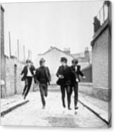 The Beatles Running In A Hard Days Night Canvas Print