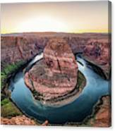 The Bend - Horseshoe Bend At Sunset In Arizona Canvas Print