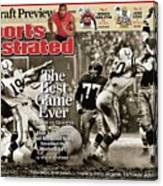 The Best Game Ever 1958 Colts Vs. Giants Sports Illustrated Cover Canvas Print