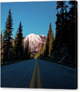 The Best Roads Lead To Rainier Canvas Print