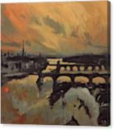 The Bridges Of Maastricht Canvas Print