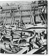 The Building Of Noahs Ark Canvas Print