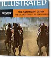 The Calumet Calvary, 1956 Florida Derby Sports Illustrated Cover Canvas Print