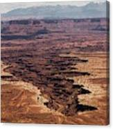 The Canyon Floor Below - 2 Canvas Print