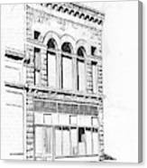 The Capital Transfer And Sands Brothers Building Helena Montana Canvas Print