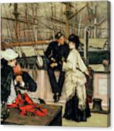The Captain And The Mate, 1873 Canvas Print