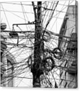 The Chaos Of Cables And Wires In Canvas Print