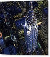 The Chrysler Building And Manhattan Canvas Print