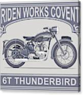 The Classic Thunderbird Motorcycle Canvas Print
