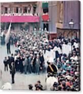 The Corpus Christi Procession Leaving The Church Of Santa Maria Del Mar - Digital Remastered Edition Canvas Print