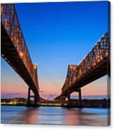 The Crescent City Connection Bridge On Canvas Print