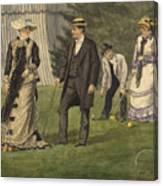 The Croquet Game Canvas Print