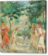 The Croquet Party Girls In The Garden Canvas Print
