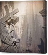 The Crosses We Bear Prazeres Historic Cemetery Lisbon Portugal Canvas Print