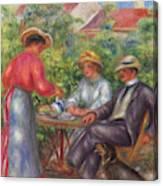 The Cup Of Tea, Or The Garden Canvas Print